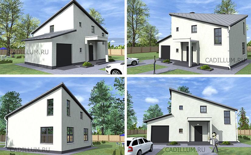Серия ЧД-002 Функциональный дом с гаражом