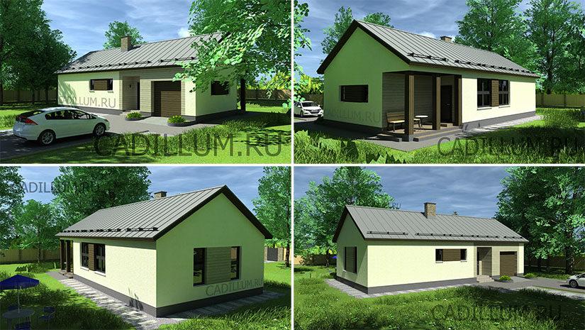 Серия ЧД-009 Дом с гаражом