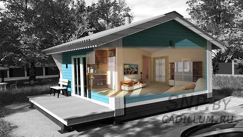 Серия ЧД-010 Экологически чистый, готовый дом 30м2