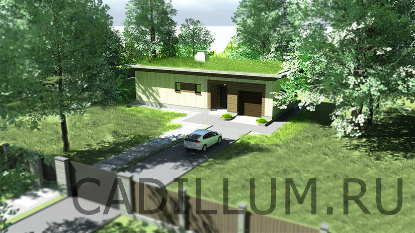 Серия ЧД-011 Дом с плоской крышей